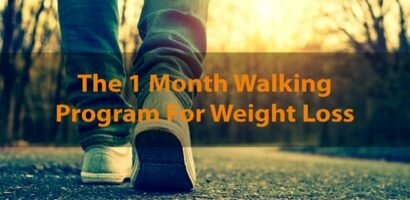 Losing weight by walking for a month